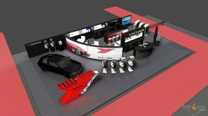 YOKOHAMA Booth Design for Geneva Auto Salon 2015