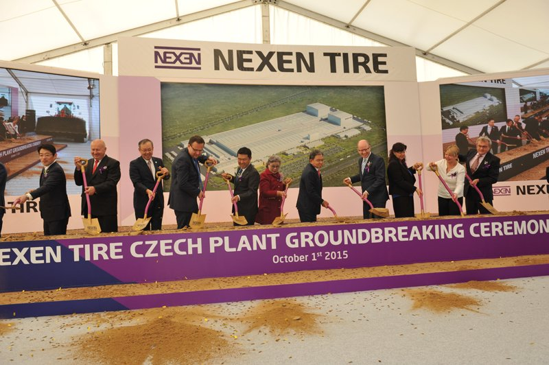 Nexen Tire Holds Groundbreaking Ceremony for its New Plant in Zatec Czech Republic