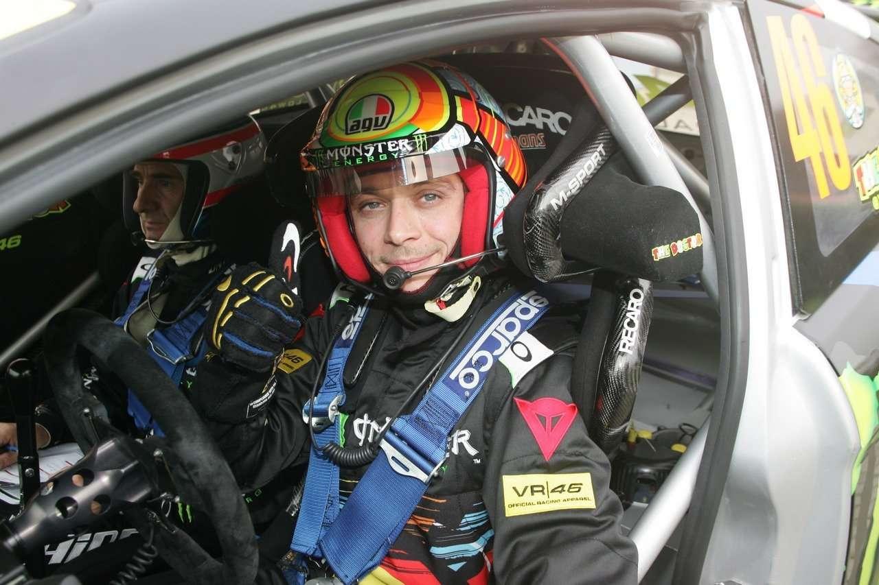Valentino Rossi (ITA) Carlo Cassina (ITA) Ford Fiesta WRC