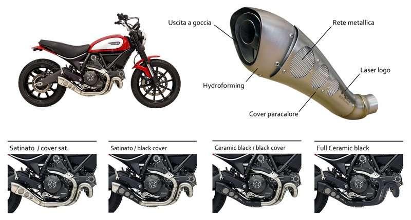 HP CORSE - Hydro Classic per Ducati SCRAMBLER (M-H-R)