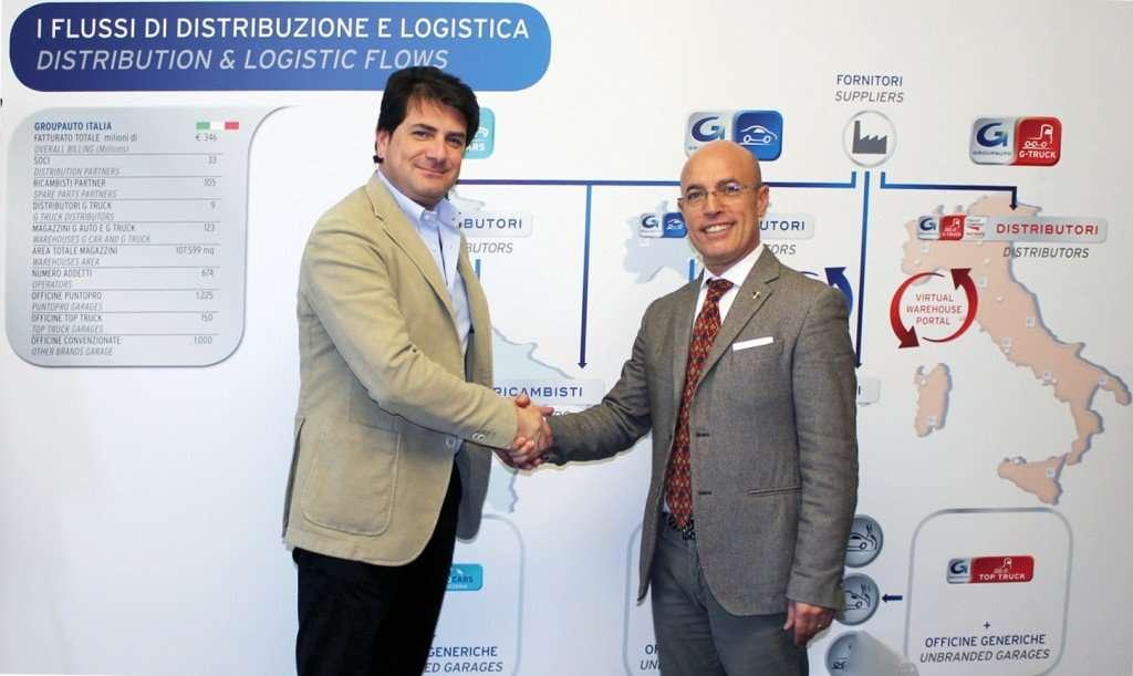 Groupauto - Accordo con Unigom - Luciano Palmitessa a SX e Diego Belmonte a DX