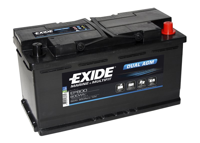 Exide Technologies - Batteria Dual AGM EP800